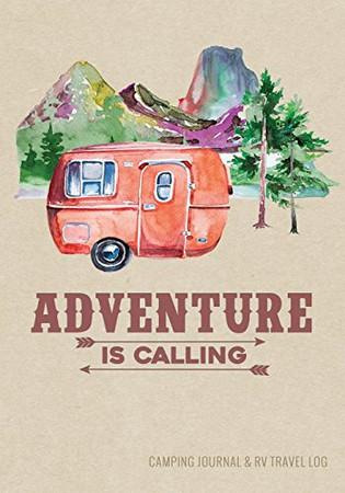 Camping Journal & RV Travel Logbook, Red Vintage Camper Adventure: Road Trip Planner, Caravan Travel Journal, Glamping Diary, Camping Memory Keepsake ... for Campers & RV Retirement Gifts Series)