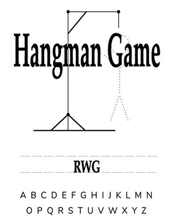 Hangman Game: 50 Pages 8.5 X 11