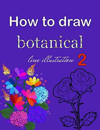 How to draw botanical line illustration 2