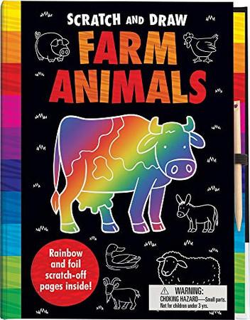Scratch and Draw Farm Animals