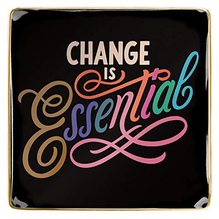 Change Is Essential Porcelain Tray