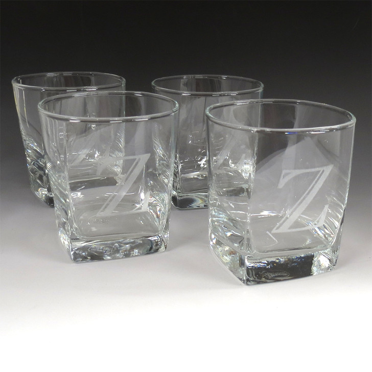 Set of 4 Rocks Glasses with Client Customization