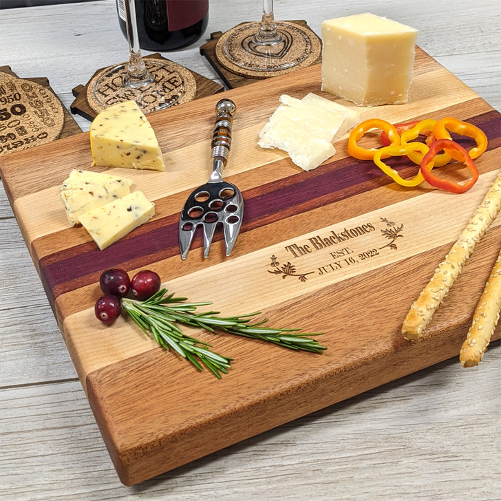 Large Cutting Board for Bride and Groom