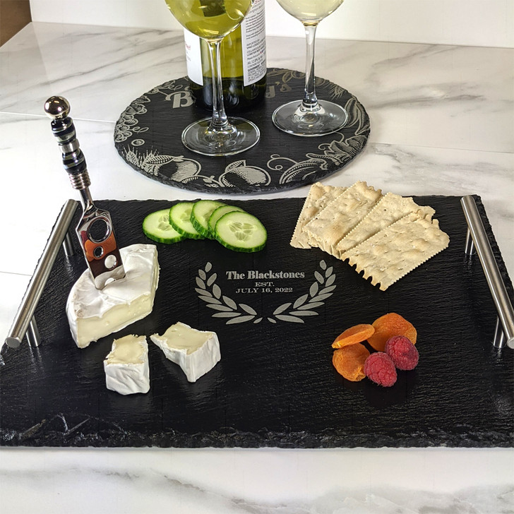 Large Slate Tray for Bride and Groom