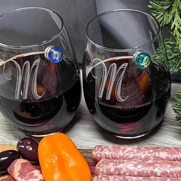 Personalized Stemless Wine Glass Set