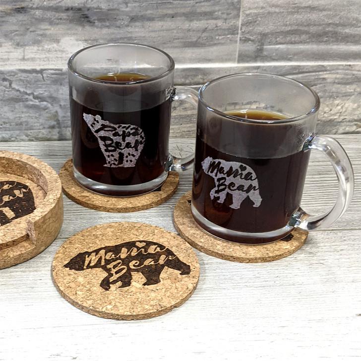 Set of 2 Mama and Papa Bear Coffee Mugs