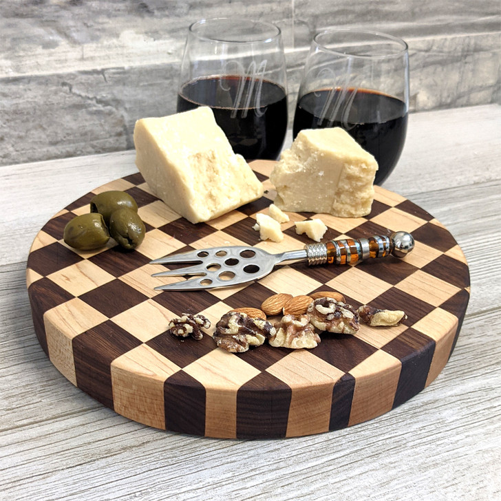 Checkerboard Charcuterie Board with Client Personalization