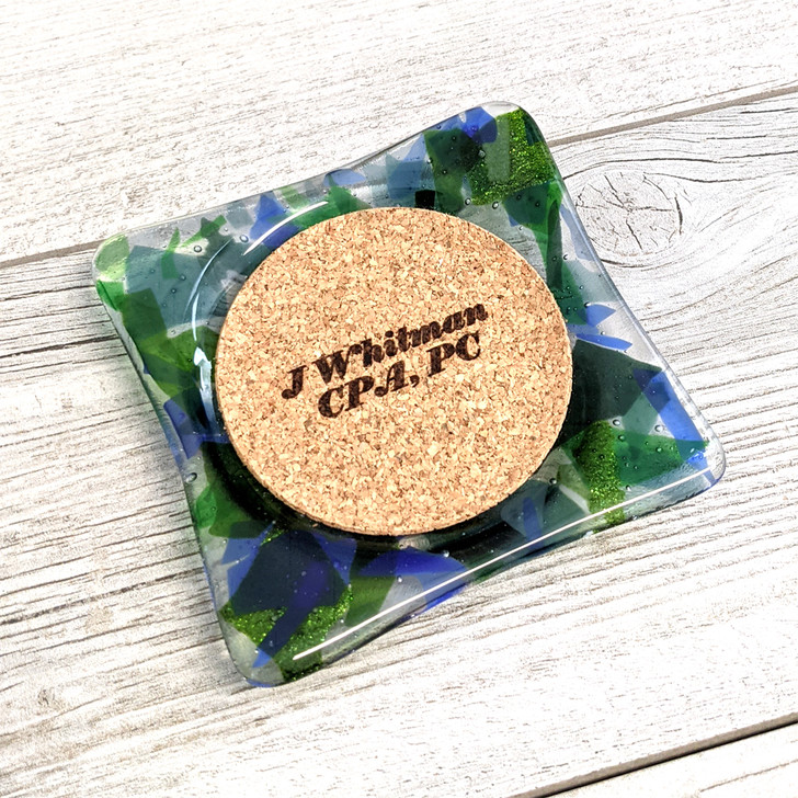 Art Glass Coaster with Client Personalization