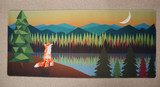 Fox and Moon Deskmat