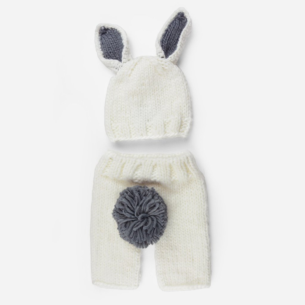 The Blueberry Hill Bailey Bunny Knit Newborn Set