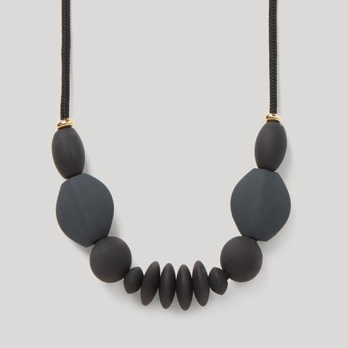 Charcoal Signature Teething Necklace | January Moon