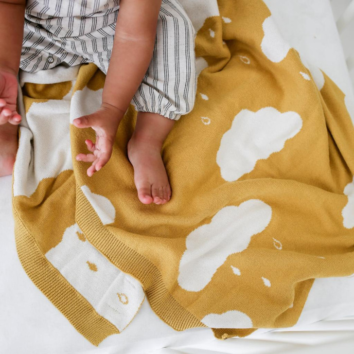 The Blueberry Hill Organic Cloud Blanket