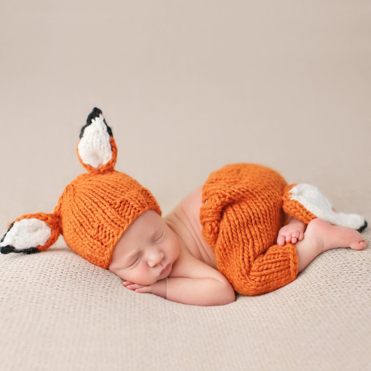 Rusty Fox Newborn Knit Set   The Blueberry Hill