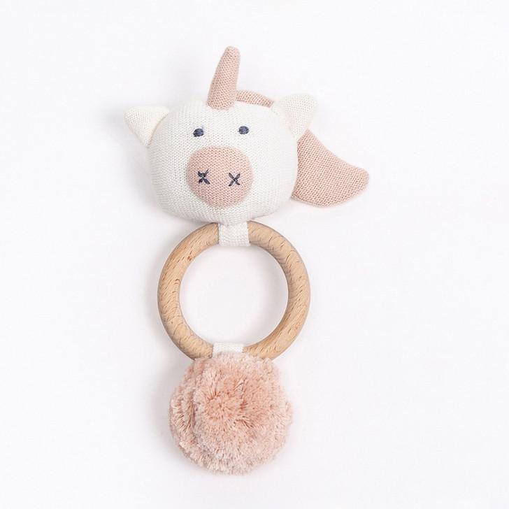 Organic Cotton Rattle Unicorn | Zestt Organics