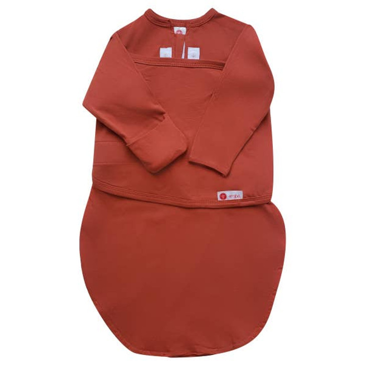Starter Swaddle with Long Sleeves | Rust | embe