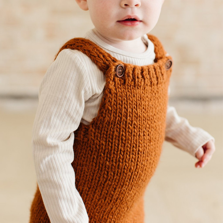 Hand Knit Romper   Cinnamon   The Blueberry HIll