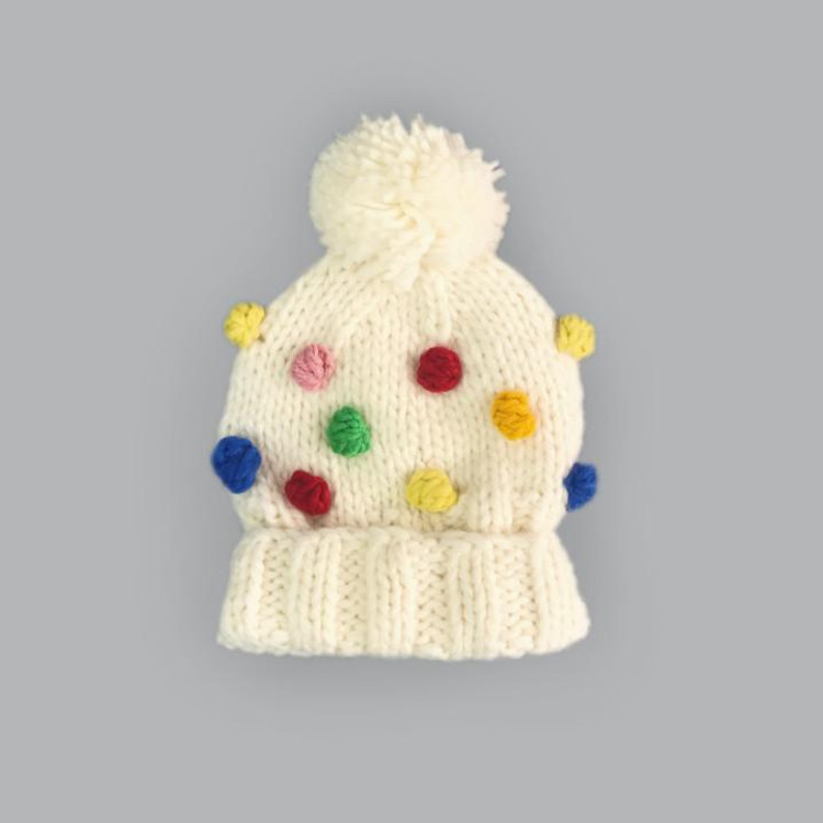 The Blueberry HIll Percy Rainbow Dot Beanie