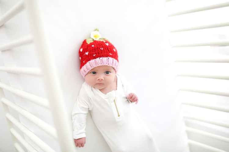 The Blueberry Hill Addie Strawberry Knit Hat