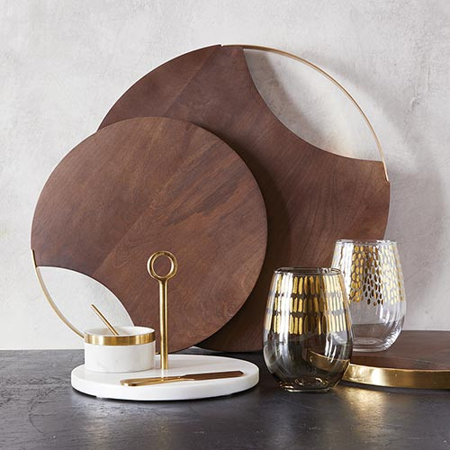 Round Wood & Acacia Board