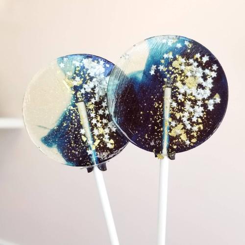 Navy Star Galaxy Lollipops, Blueberry Flavor,  10/Case