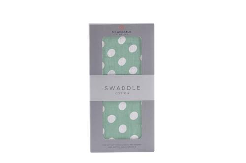 Jade Polka Dot Swaddle
