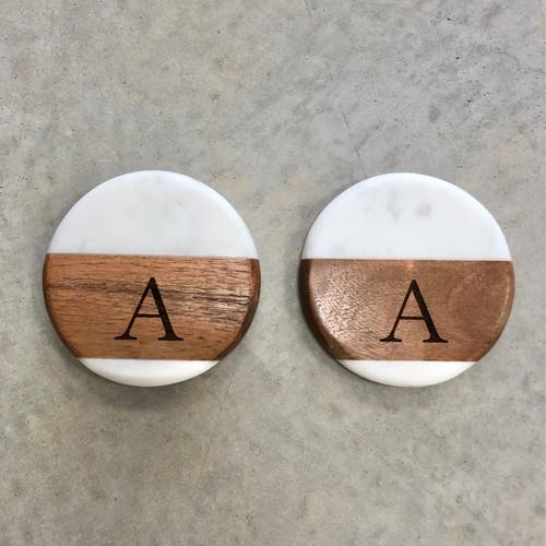 Marble & Wood Coasters