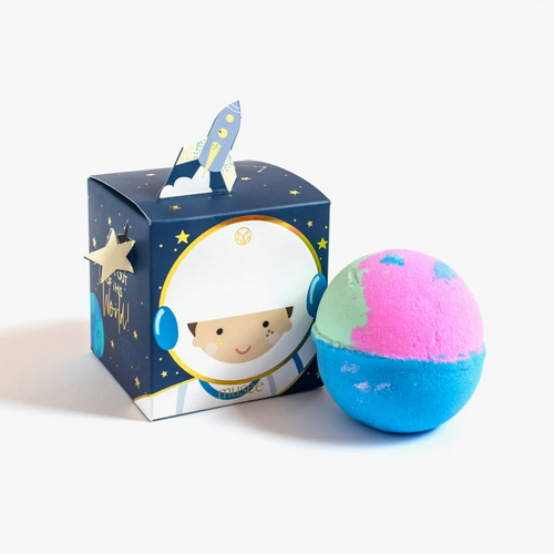 Outer space bath bomb