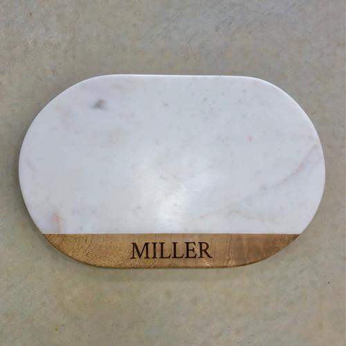 Oval Marble Cutting Board