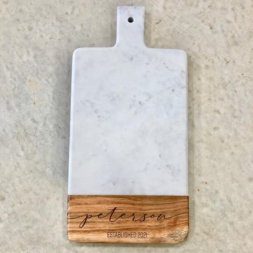 Marble & Wood Board w/ Handle