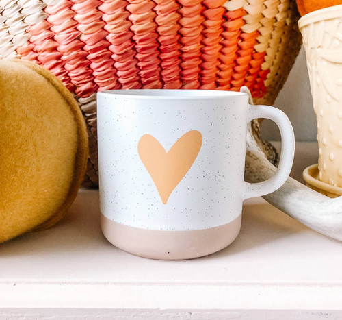 Clay Heart Mug