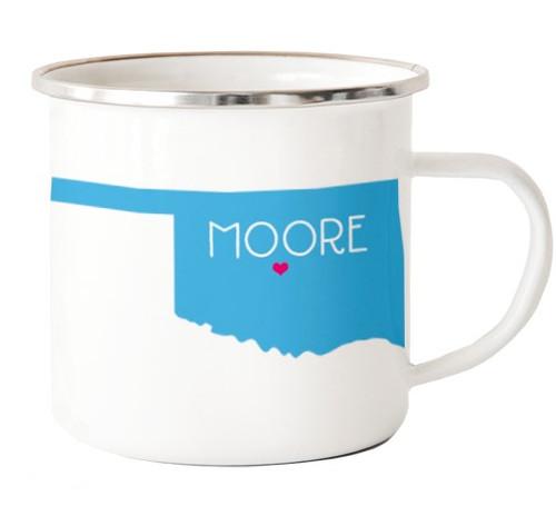 Oklahoma Camp Mug w/ Moore heart