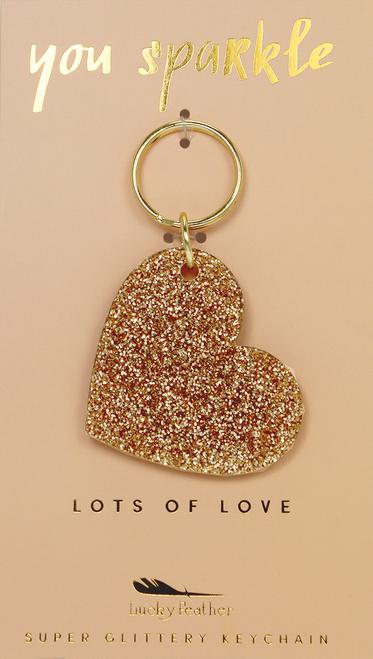 Glitter Keychain - Shape - HEART