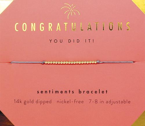 Sentiments Bracelet - GOLD - Congratulations