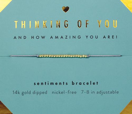 Sentiments Bracelet - GOLD - Thinking of You