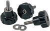1/4-20 Machined Knob Kit, set of three black-anodized, aluminum knobs with tapered shanks   (M1485KBKIT)