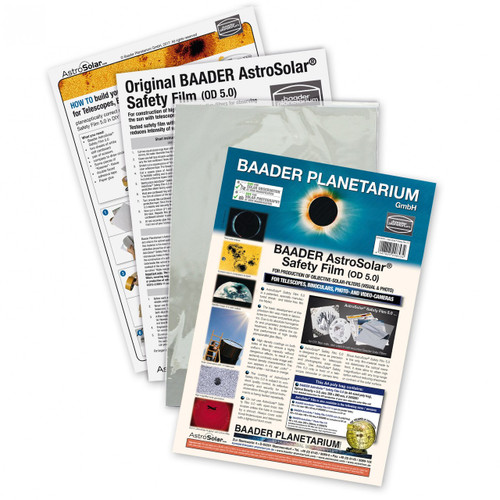"Baader AstroSolar 5.0 Safety Film 200 x 290mm (7.9""x11.4"")  (AS50A4)"