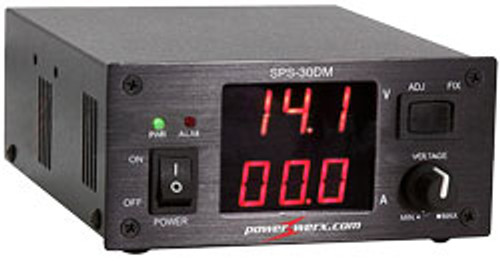 Digital readout of 25 Amp Powerwerx Variable Power Supply