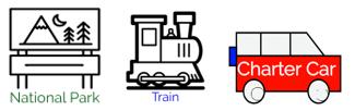 National Park Train Charter Logo
