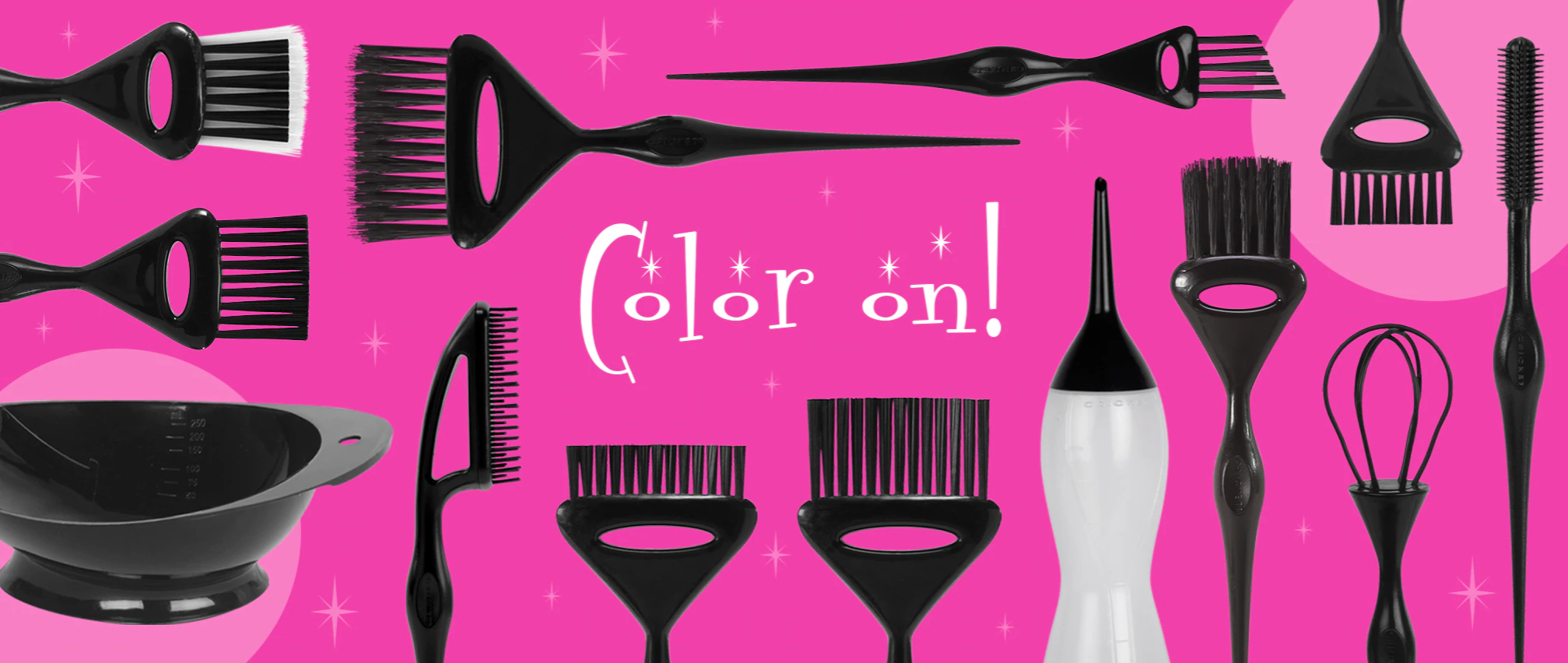 Color Cocktail Hair Coloring Brushes, Wands, Whisks, Bottle and Bowl