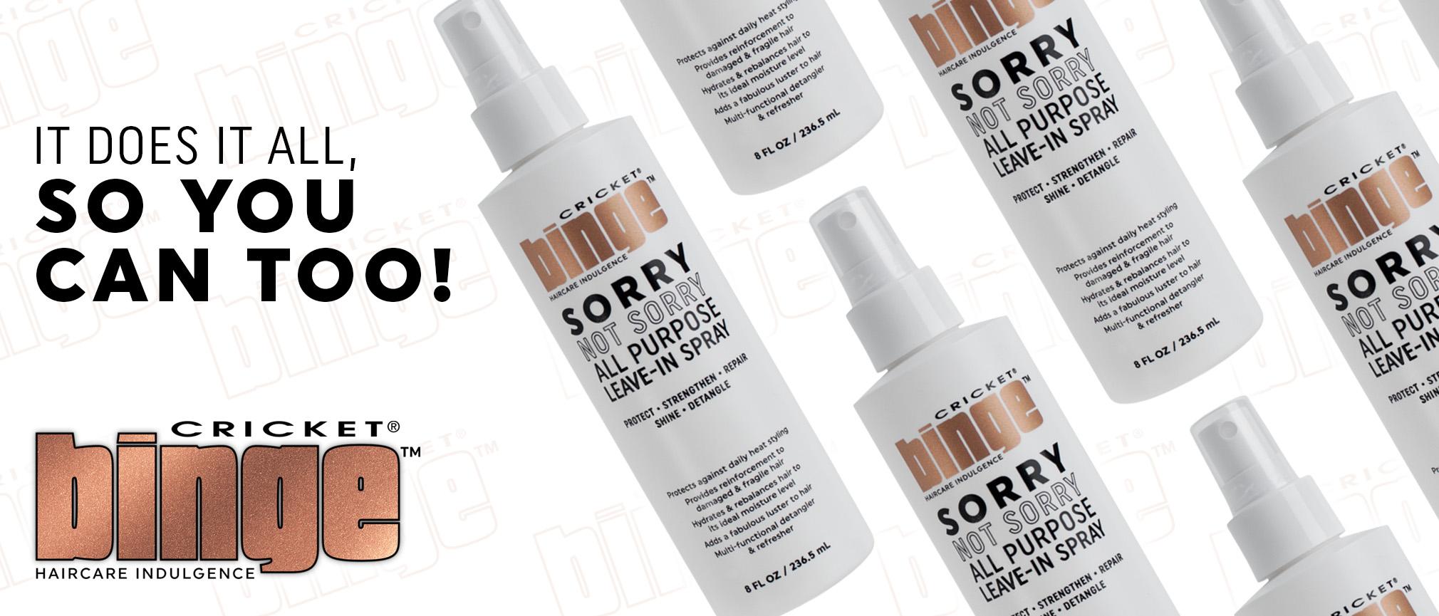 NEW Binge Sorry Not Sorry All Purpose Spray