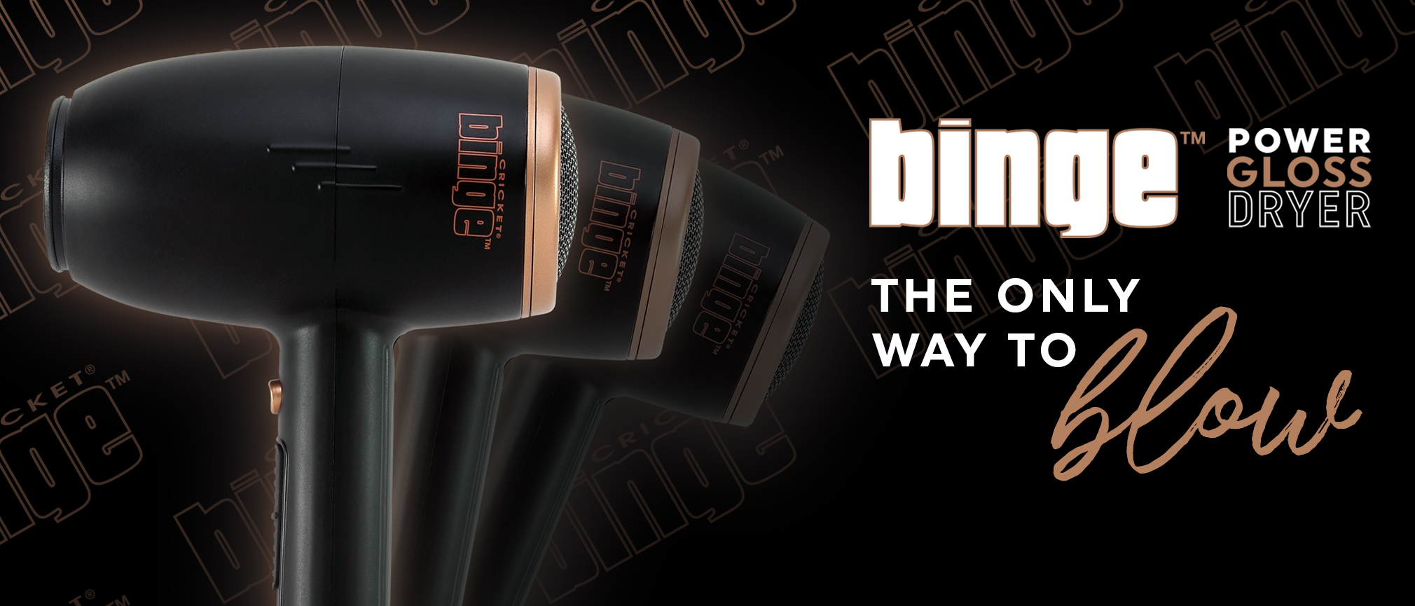 Binge Power Gloss Hair Dryer the only way to blow