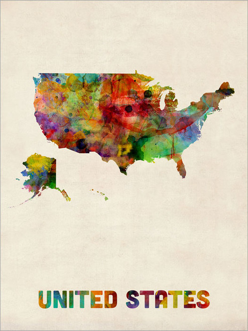 United States Poster Art Print