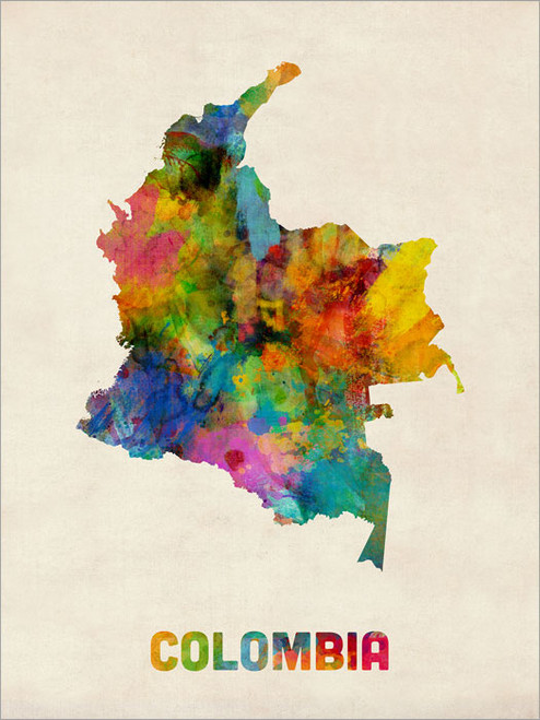 Colombia Poster Art Print