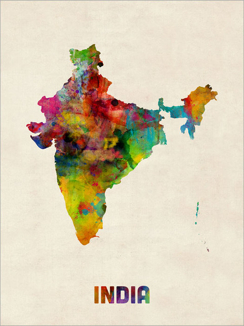 India Poster Art Print
