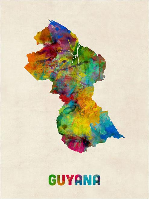 Guyana Poster Art Print