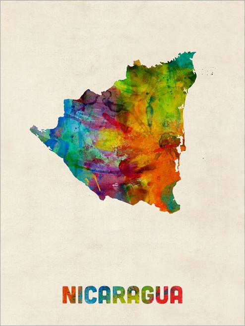 Nicaragua Poster Art Print