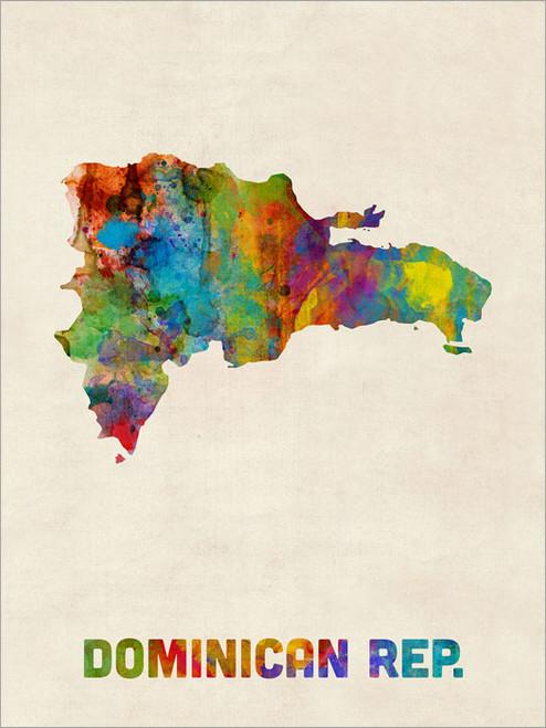 Dominican Republic Poster Art Print