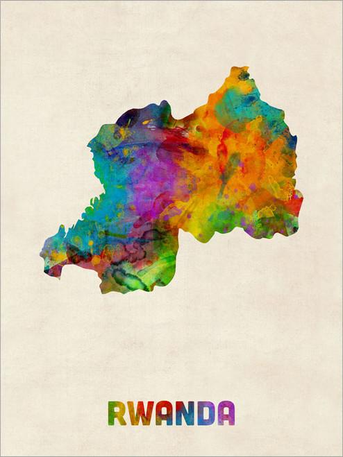 Rwanda Poster Art Print