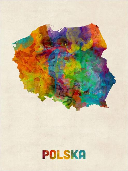 Poland Map Poster Art Print