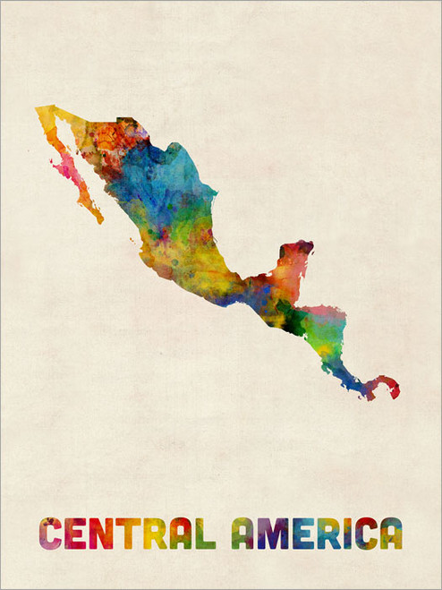 Central America Map Poster Art Print